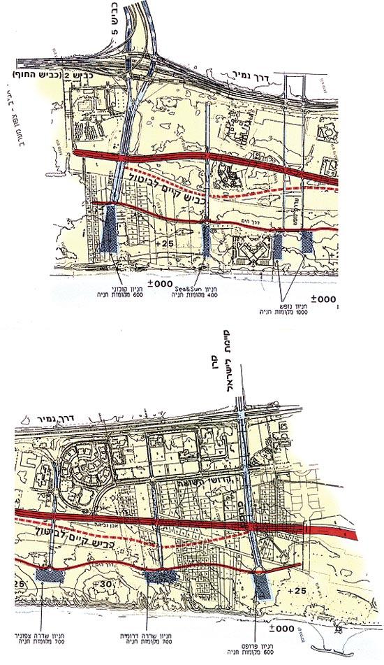 מפה שטח שדה דב